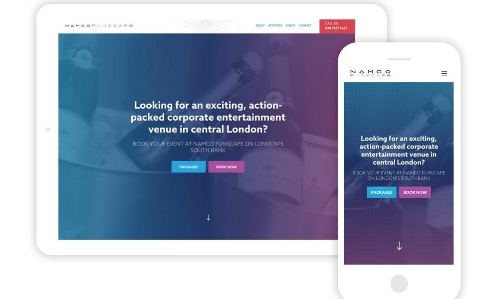 Namco Funscape web visuals
